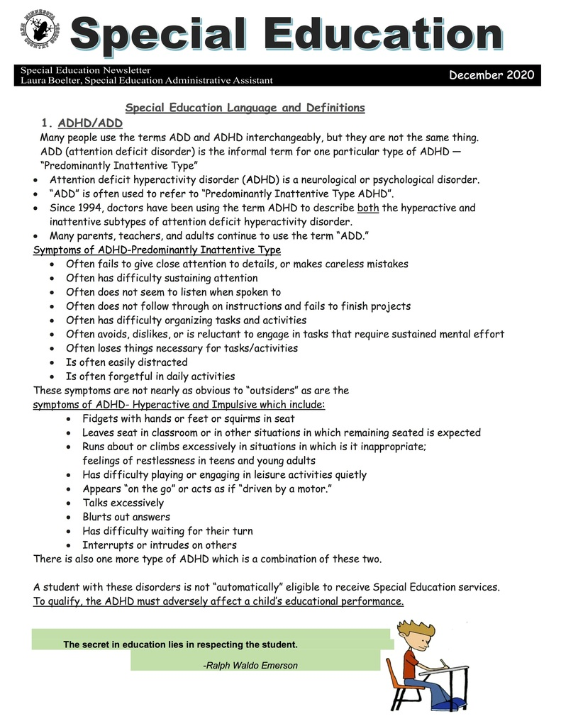 Special Education Newsletter
