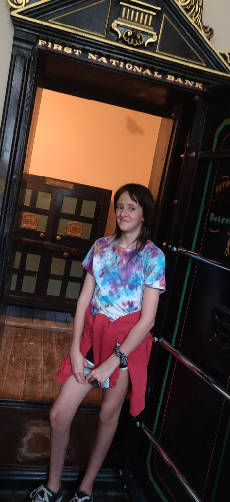 Summer Vacation- Kenna in Northfield touring Jesse James museum.
